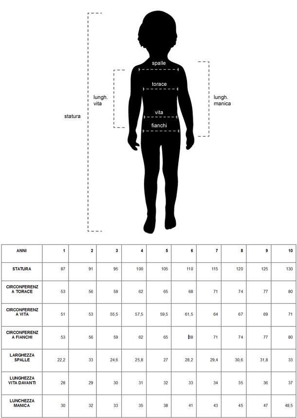 Famoso Controlla le misure e acquista un vestito su misura per il tuo  XA34